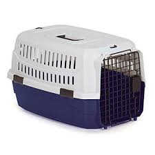 Small breed dog crate plastic and metal