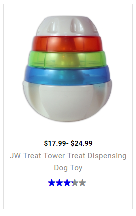 JW Treat Tower Treat Dispensing Dog Toy