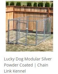 Lucky Dog Modular Chain Link Kennel